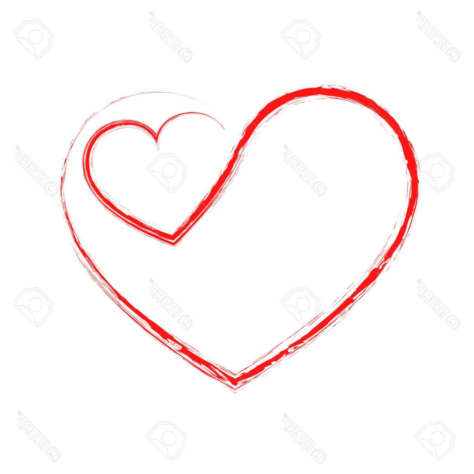 1560x1560 Photostock Vector Abstract Hand Drawn Hearts Vector Illustration