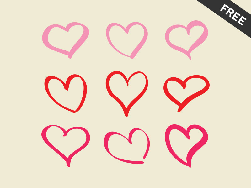 800x600 9 Hearts Freebie By Emanuel Vede