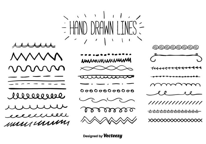 700x490 Hand Drawn Lines Vector