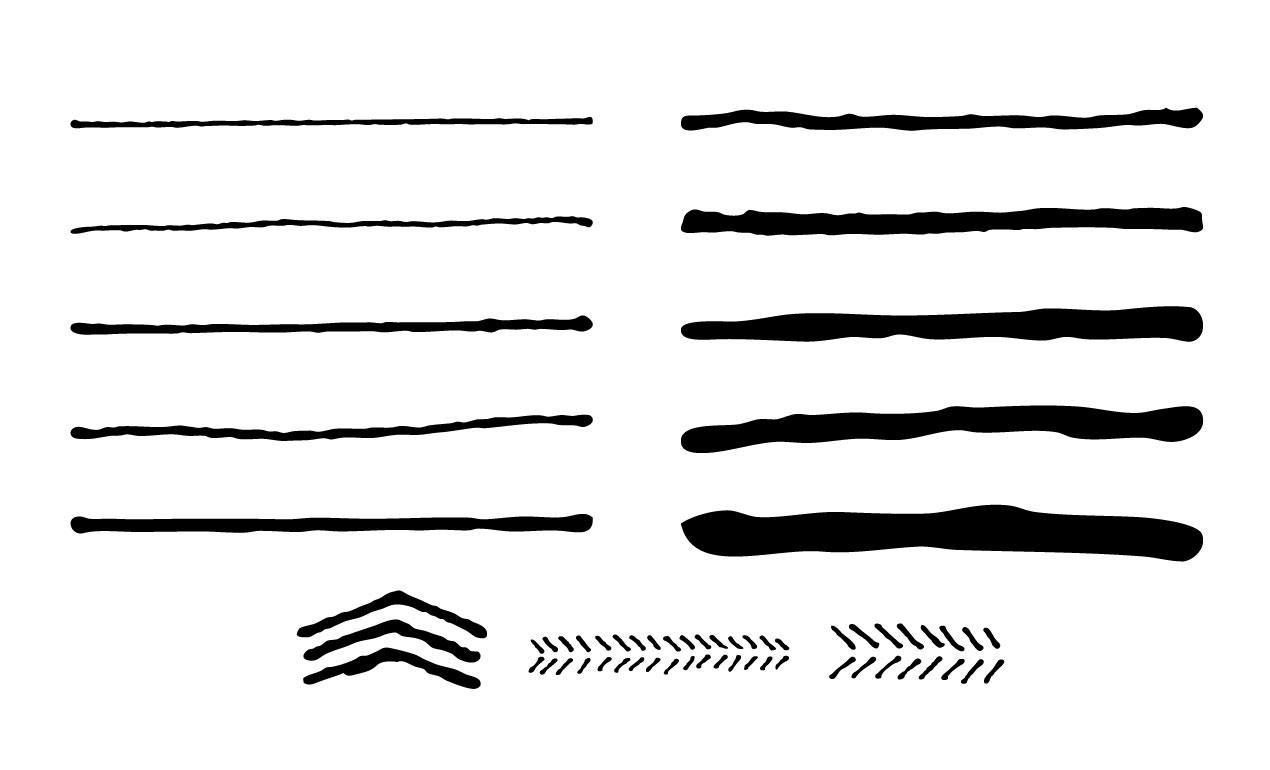 1270x770 Hand Drawn Vector Brushes For Adobe Illustrator
