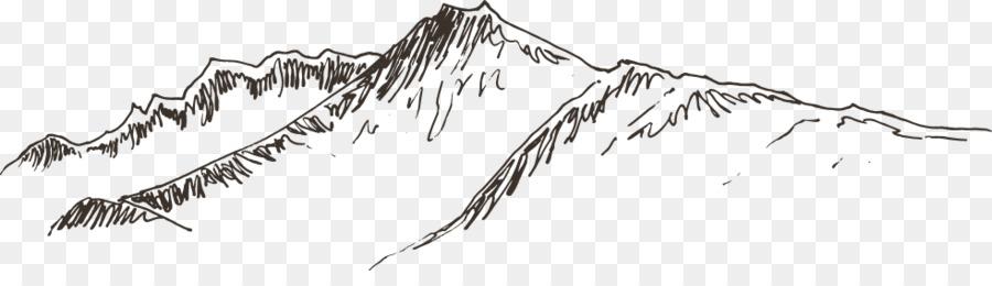 900x260 Landscape Graphics Line Drawing Illustration