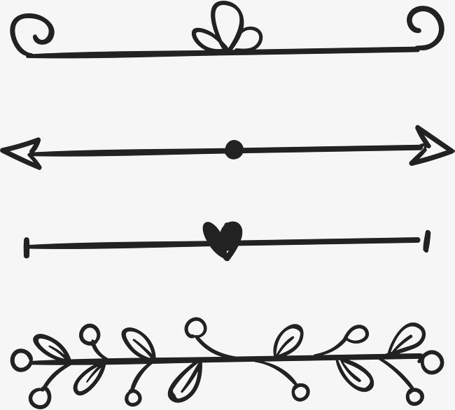 650x586 Love Leaves Decorate The Parting Line, Vector Png, Parting Line