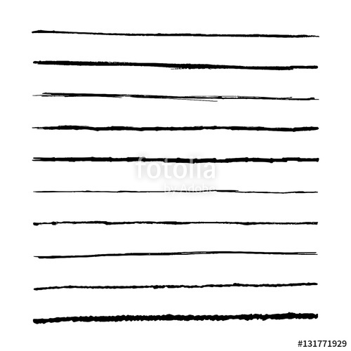 500x500 Set Marker Lines. Vector Templets Hand Drawing Brushes. Stock
