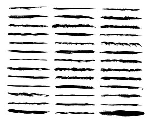 300x240 Set Of Hand Drawn Lines. Vector Dotted, Zigzag, Wavy And Straight
