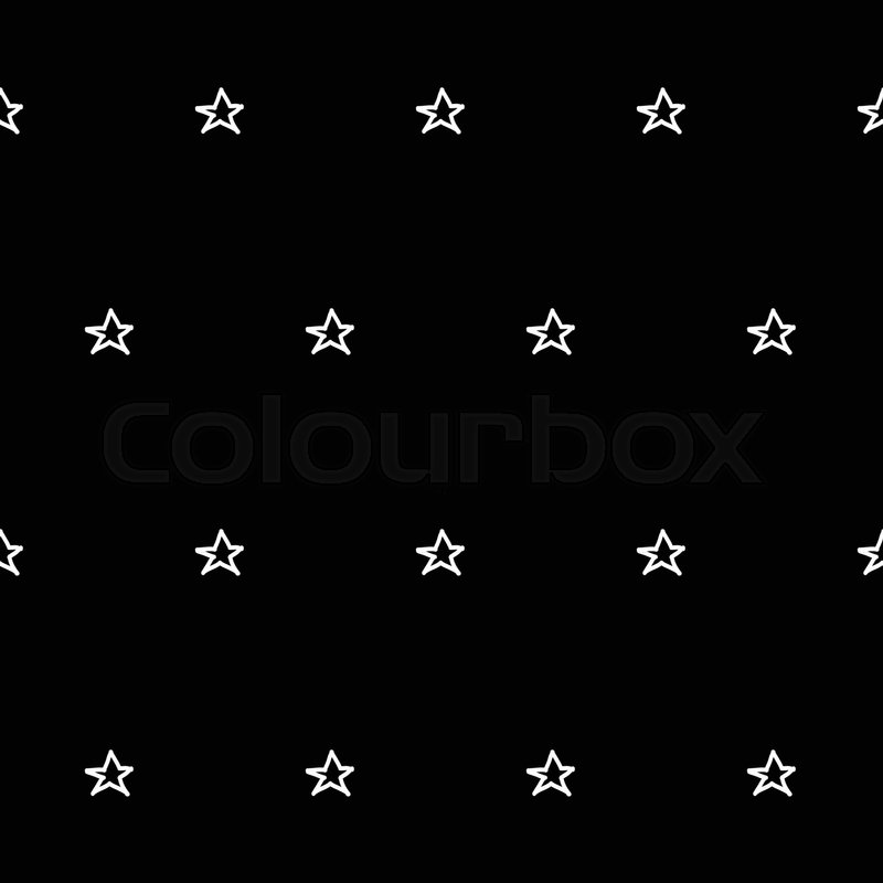 800x800 Abstract Doodle Star Pattern With Hand Drawn Stars. Cute Vector