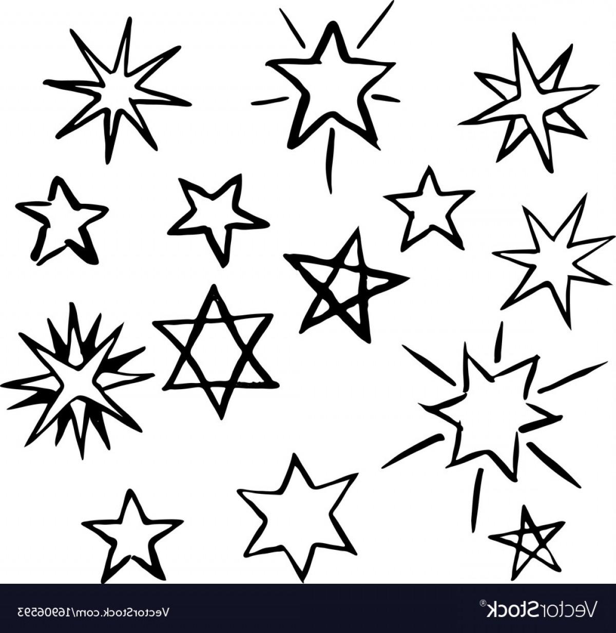 1200x1233 Set Of Hand Drawn Stars Vector Arenawp