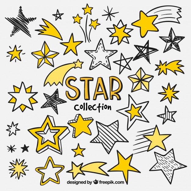 626x626 Collection Of Hand Drawn Star Vector Free Download