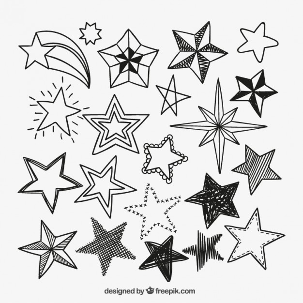 626x626 Sketchy Star Icons Vector Free Download