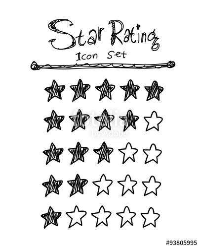 405x500 Drawn Star Doodle