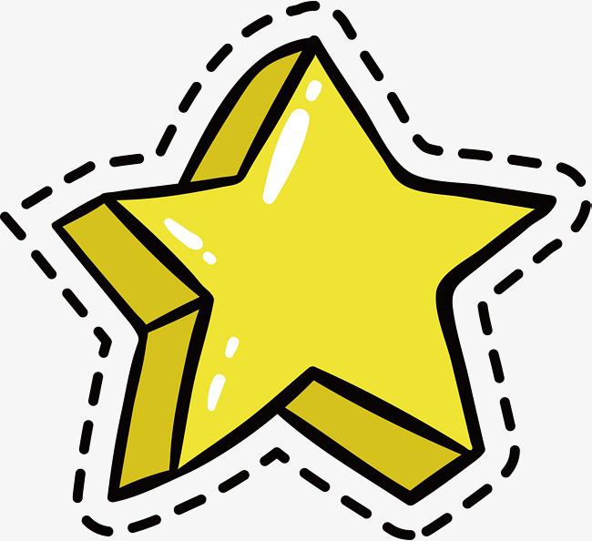 650x594 Hand Drawn Cartoon Five Pointed Star, Hand Vector, Cartoon Vector
