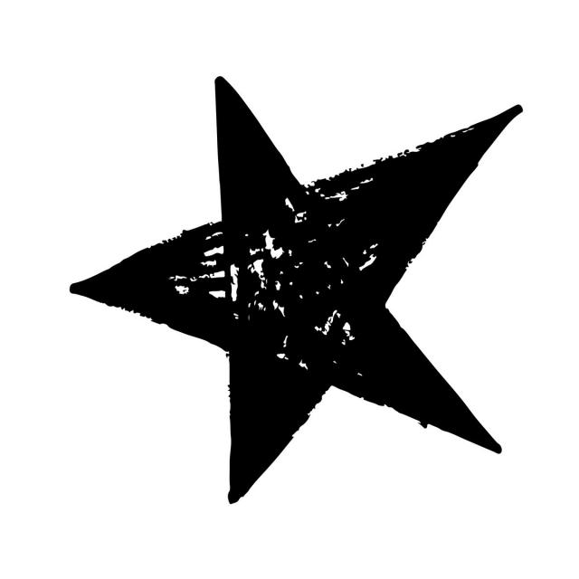 640x640 Hand Drawn Star Doodle, Art, Asterisk, Card Png And Vector For