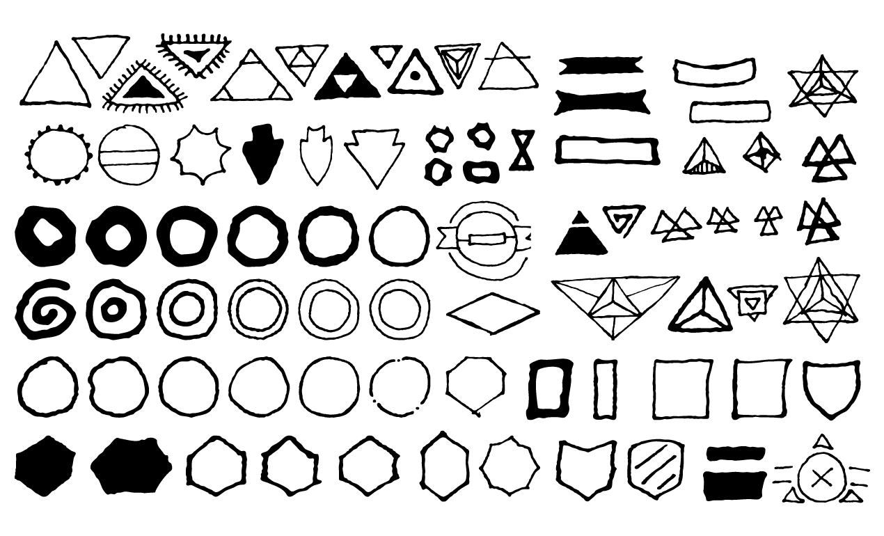 1270x770 Hand Drawn Shapes Vector Pack For Adobe Illustrator