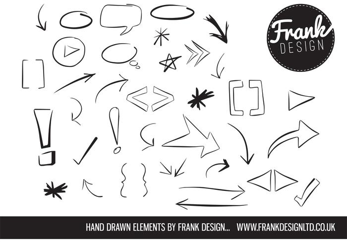 700x490 Hand Drawn Vector Elements Free Vector Art