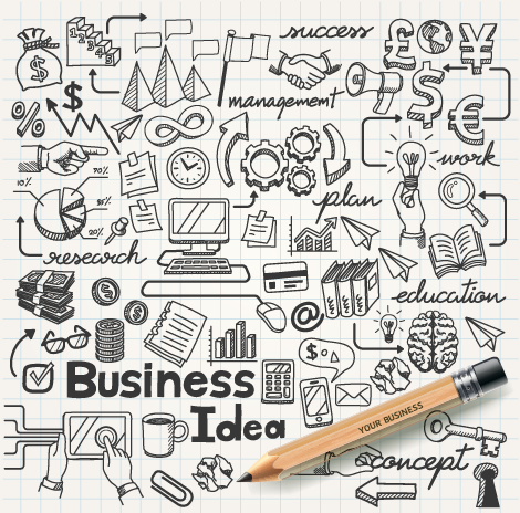 470x464 Hand Drawn Business Infographics Elements Vector Free Download