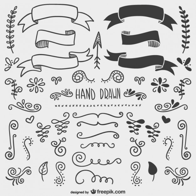 626x626 Hand Drawn Ornaments Vector Free Download