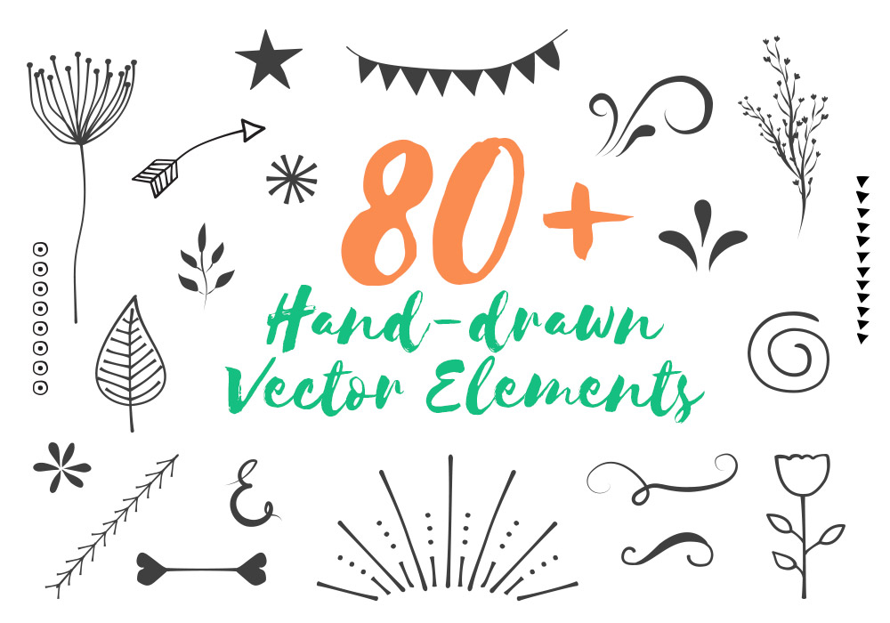 1000x700 Free Hand Drawn Vector Elements