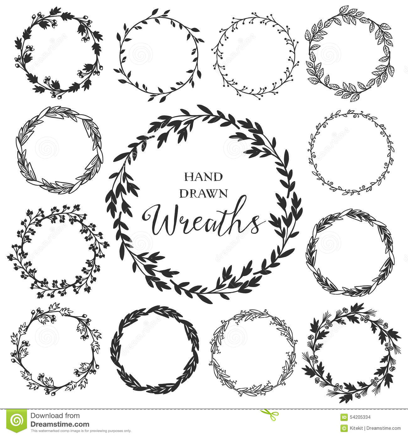Hand Drawn Wreath Vector