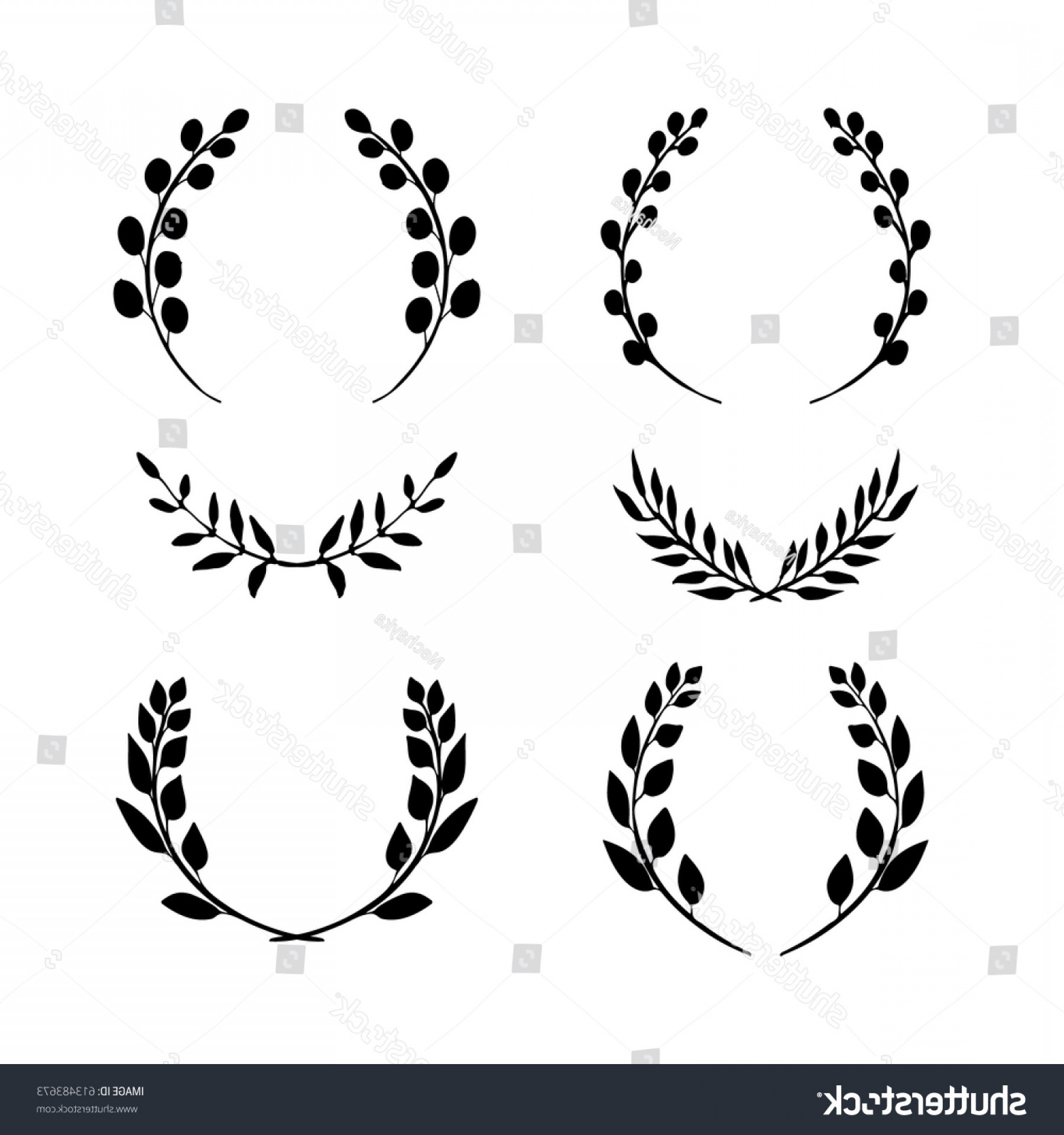 1800x1920 Hand Drawn Collection Laurel Wreaths Vector Arenawp