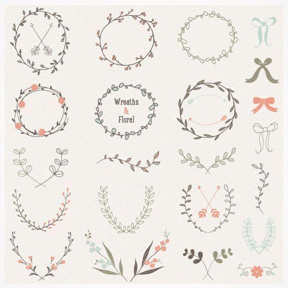 564x564 Hand Drawn Laurel And Wreath Vectors