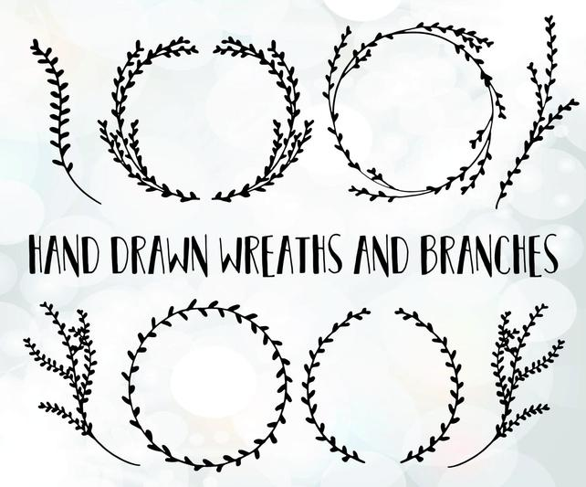 642x533 Branch Svg Files Branch Wreath Vector Branch Clipart File Etsy