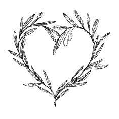 235x235 Drawn Wreath Olive Branch