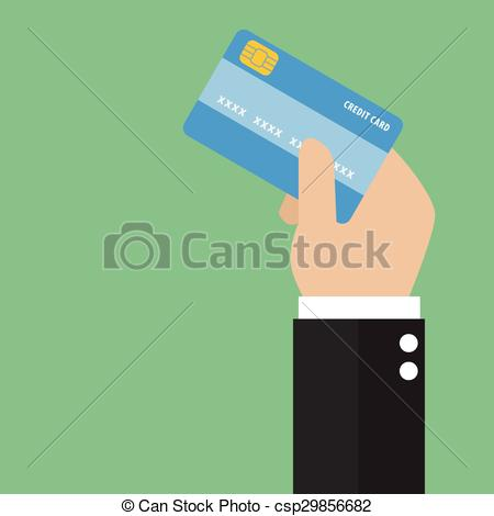 450x470 Businessman Hand Holding Credit Card. Businessman Hand Holding