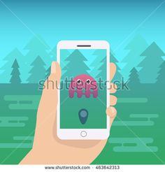 Hand Holding Phone Vector