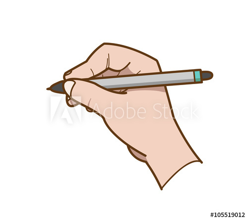 500x445 Hand Drawing, A Hand Drawn Vector Illustration Of A Hand Holding A