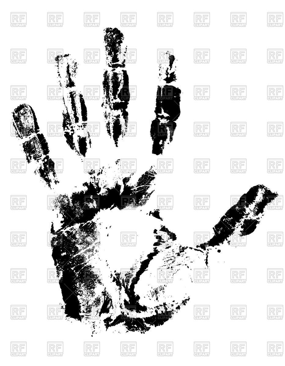 933x1200 Black Ink Handprint Vector Image Vector Artwork Of Design