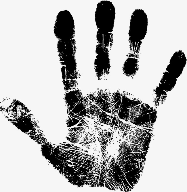 650x670 Handprint Vector, Black, Handprint, Fingerprint Png And Vector For
