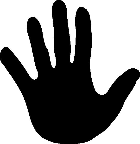 582x598 Handprint Vector Black Clipart