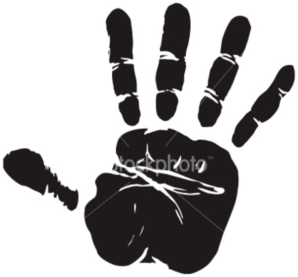 600x557 Ist Eps Vector Hand Print Credit Free Images