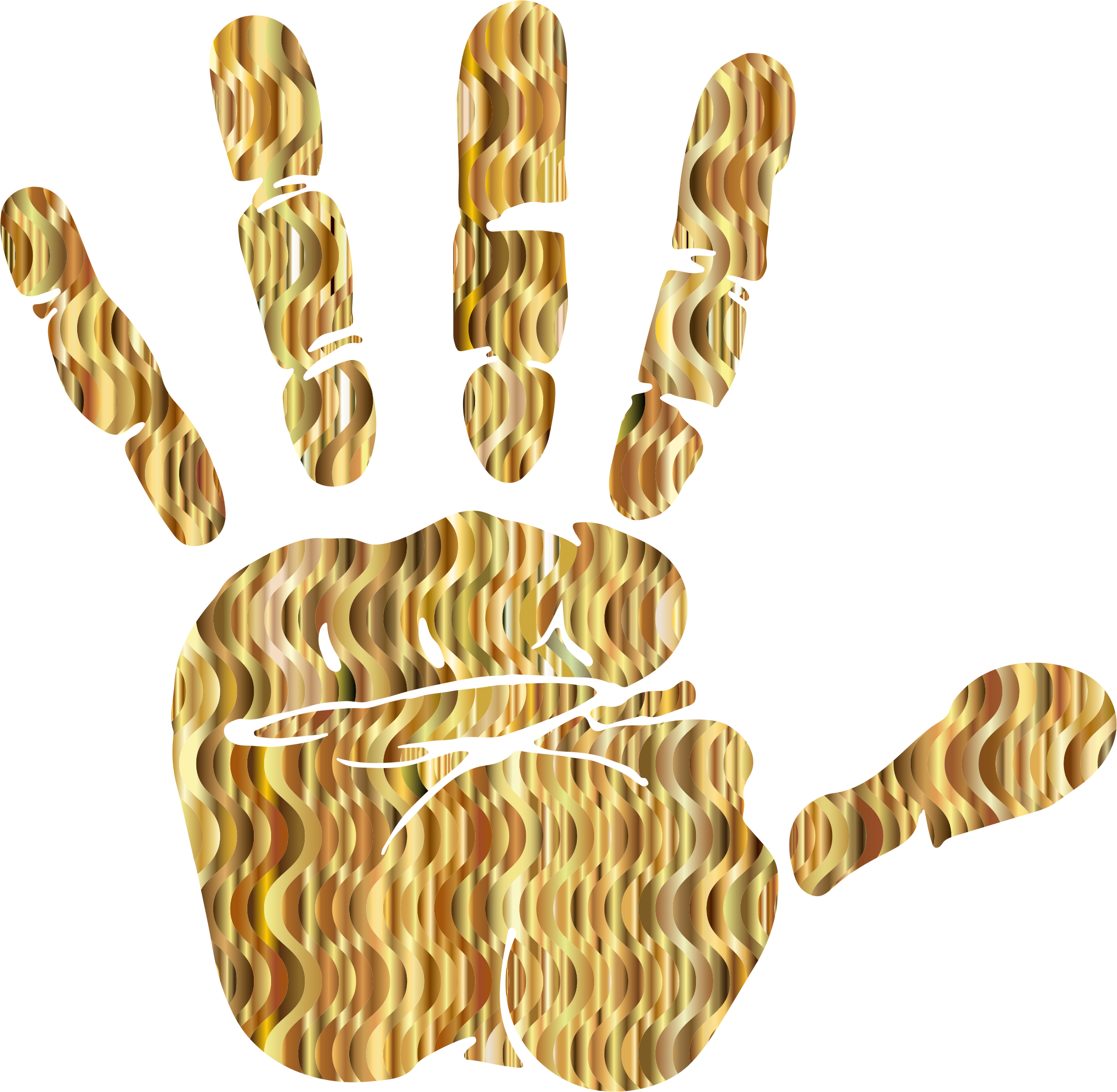 2258x2208 Prismatic Design Handprint Vector Graphics Image
