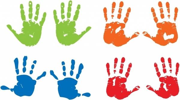 600x333 Vector Child Handprint Free Vector Download (1,088 Free Vector
