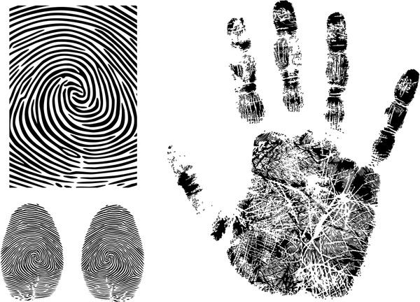600x432 Fingerprint Handprint Vector Free Vector In Encapsulated