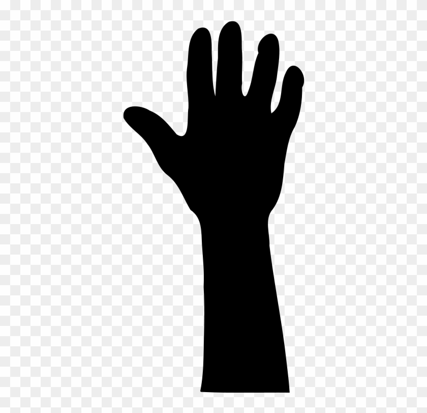 840x811 Free Raised Hand In Silhouette