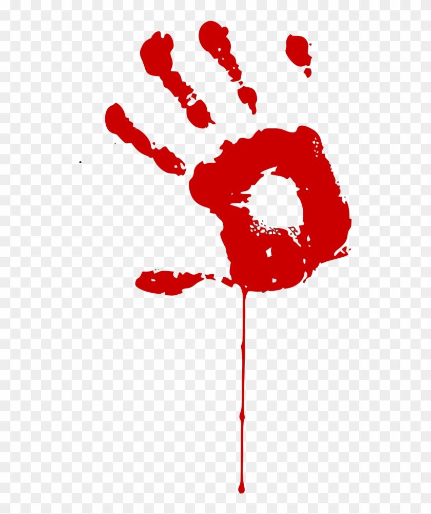 840x1001 Handprint Clipart Bloody