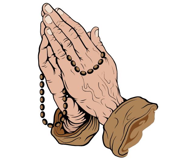 600x525 Praying Hands Vector Art Free 123freevectors