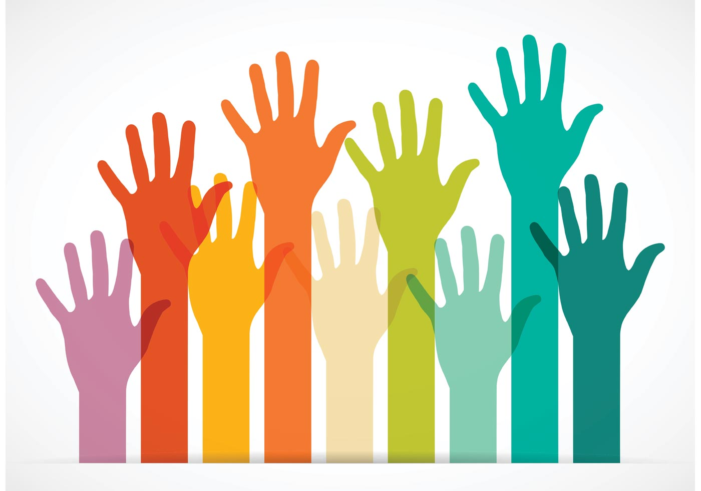 1400x980 Vector Colorful Reaching Hands