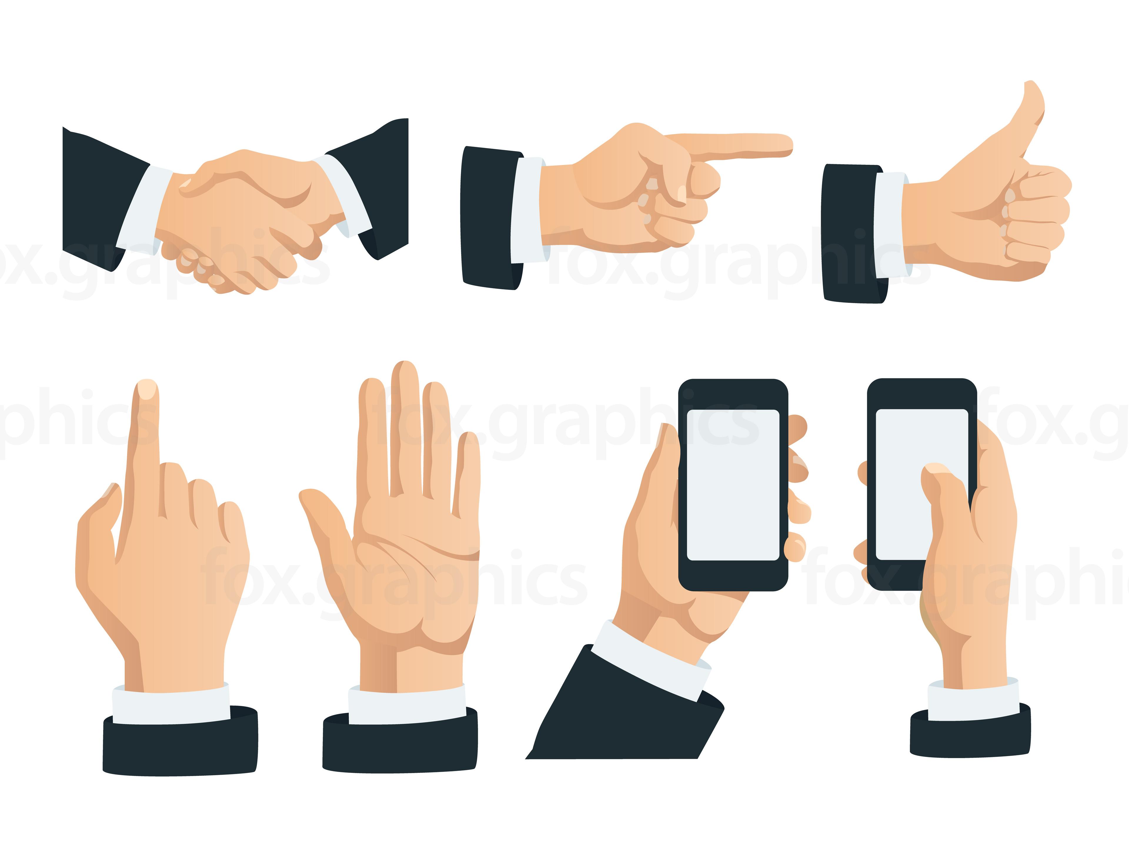 3840x2880 Vector Hands Gestures