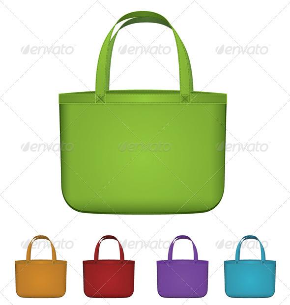 590x621 Green Reusable Bag Vector By Zebra Finch Graphicriver