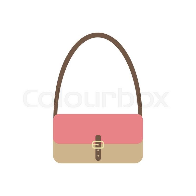 800x800 Handbag Vector Icon. Woman Bag. Vector Illustration Stock Vector