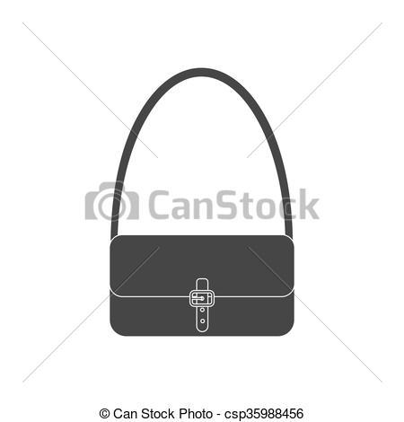 450x470 Handbag Vector Icon. Woman Bag. Vector Illustration.