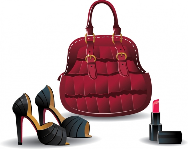 600x474 Ladies Shoes And Handbags Vector Free Vector In Encapsulated