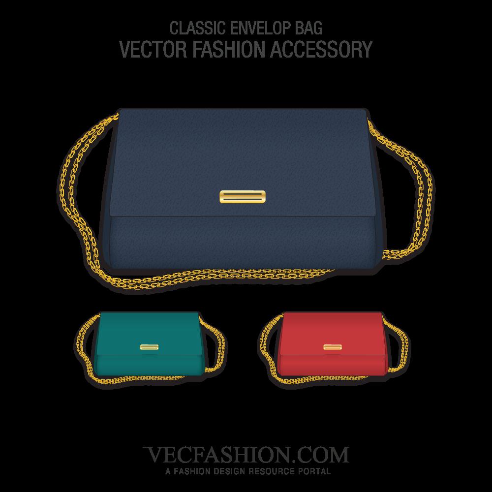 1000x1000 Classic Envelop Bag Vector Templates