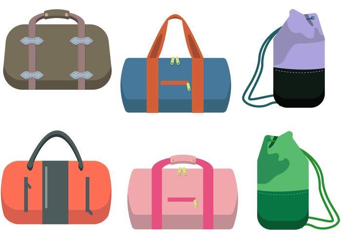 700x490 Duffle Bag Vector Set