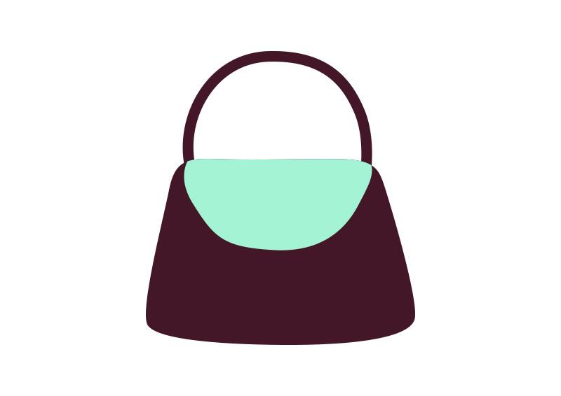 800x566 Flat Handbag Vector