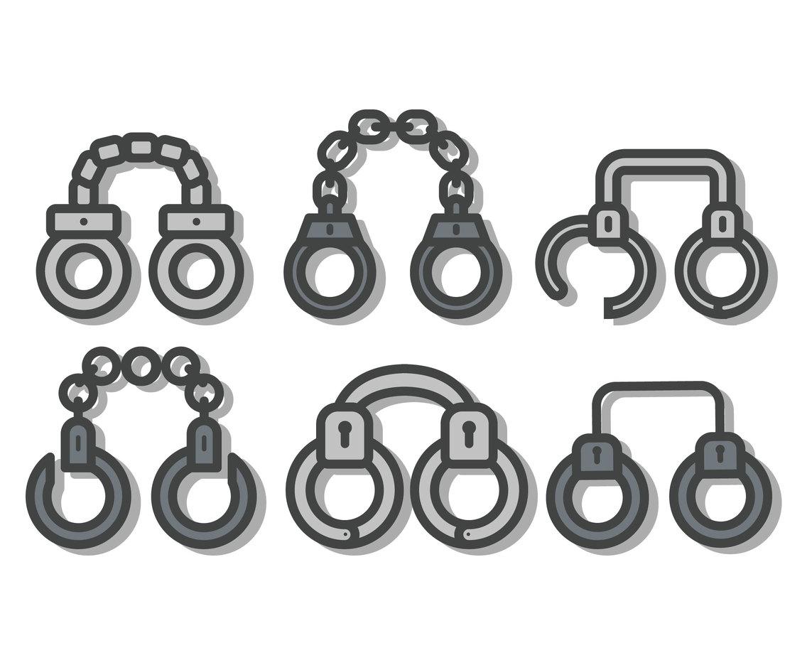 1136x936 Handcuffs Vector Vector Art Amp Graphics