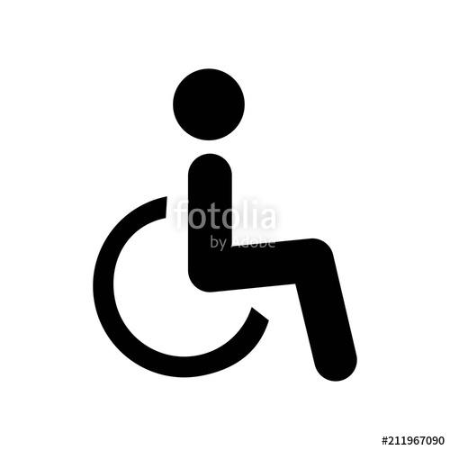 500x500 Handicap Icon Vector Icon. Simple Element Illustration. Handicap