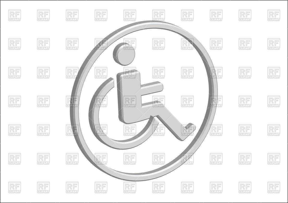 1200x849 3d Wheelchair Handicap Icon Vector Image Vector Artwork Of Icons